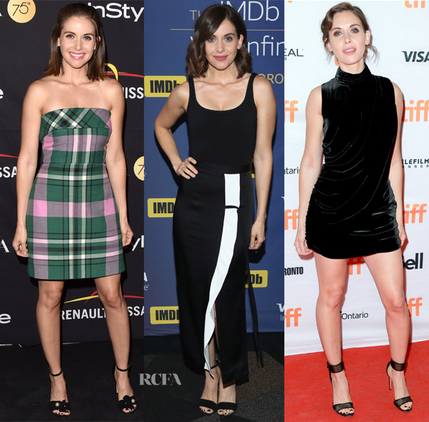 8f533b59a Alison Brie has been a regular at the Toronto Film Festival, allowing her  multiple opportunities to experiment with her feminine style.
