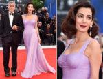 Amal Clooney In Atelier Versace - 'Suburbicon' Venice Film Festival Premiere