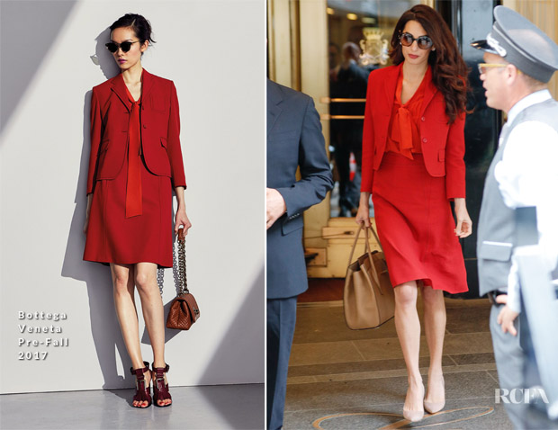 Amal Clooney returns to work in Bottega Veneta