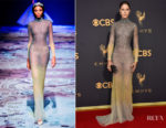 Amanda Crew In Michael Cinco Couture - 2017 Emmy Awards