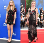 Amanda Seyfried In Valentino & Alexander McQueen - 'First Reformed' Venice Film Festival Photocall & Premiere