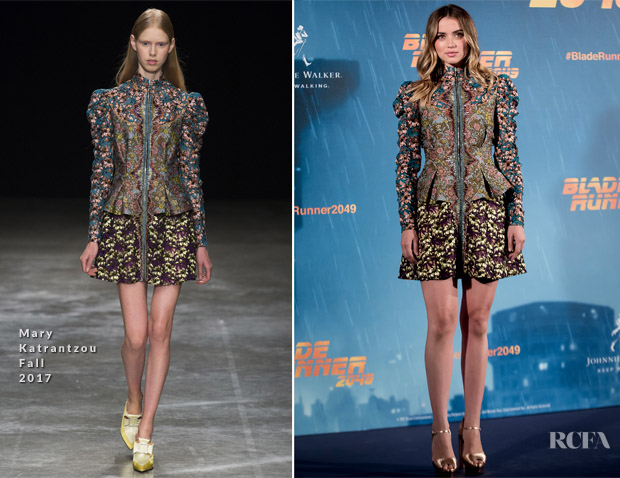 Ana de Armas In Mary Katrantzou - 'Blade Runner 2049' Madrid Photocall