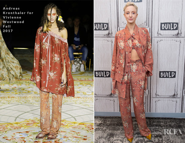Andrea Riseborough In Andreas Kronthaler for Vivienne Westwood - Build: 'Battle of the Sexes' Discussion