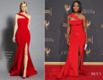 Angela Bassett In Romona Keveza - 2017 Creative Arts Emmy Awards