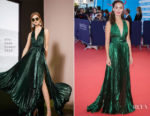 Berenice Bejo In Elie Saab -  'Good Time' Deauville American Film Festival Premiere