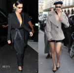 Bella Hadid In Alexandre Vauthier Couture & Claudia Li - Rimowa Dinner & PFW Sighting
