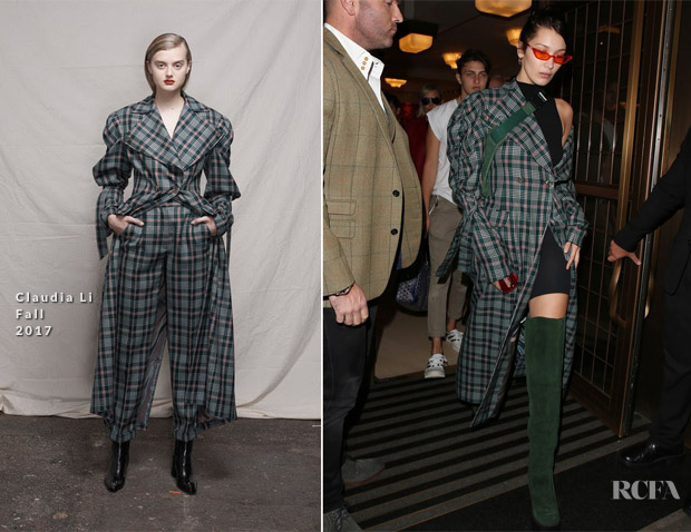 Bella Hadid In Claudia Li - Out In London