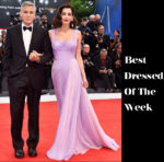 Best Dressed Of The Week - Amal Clooney In Atelier Versace, Alexander Skarsgard In Ermenegildo Zegna Coutur & Bill Skarsgard In Prada