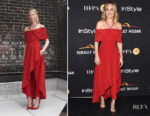 Brie Larson In Yigal Azrouël - HFPA & InStyle Annual Celebration of Toronto Film Festival