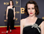 Claire Foy In Oscar de la Renta - 2017 Emmy Awards