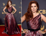 Debra Messing In Romona Keveza - 2017 Emmy Awards