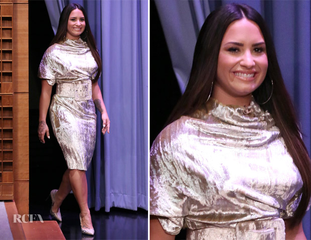 Demi Lovato In Maison Margiela - The Tonight Show Starring Jimmy Fallon