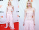 Elle Fanning In Alexander McQueen - 'Mary Shelley' Toronto Film Festival Premiere