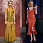 Emma Roberts In Coach & Rebecca Vallance - FROW @ Coach & Late Night With Seth Meyers