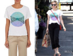 Emma Roberts' RE/DONE 'Support Denim Revival' Cotton T-Shirt
