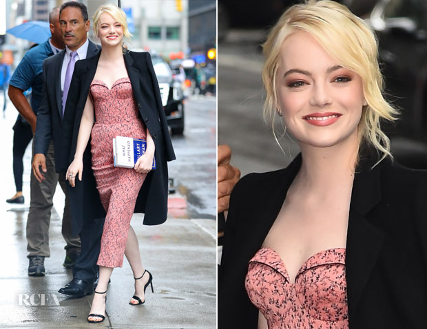 Emma Stone In Ulyana Sergeenko Demi Couture - The Late Show with Stephen Colbert