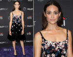 Emmy Rossum In Oscar la Renta - Paleyfest Fall Preview Presents Shameless