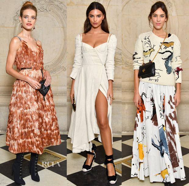 As could be expected, the Christian Dior Spring 2018 fashion show brought  together a number of beautiful femmes to celebrate the new collection  during Paris ... 54d1078e6dd