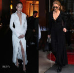 Gigi Hadid In Brandon Maxwell & Nina Ricci - Messika Cocktail Party & PFW Sighting