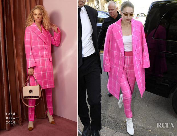 Gigi Hadid In Fendi - Out In Milan
