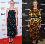 Greta Gerwig In Giorgio Armani & Sophie Theallet - 'Lady Bird' Toronto Film Festival Premiere & HFPA & InStyle TIFF Party