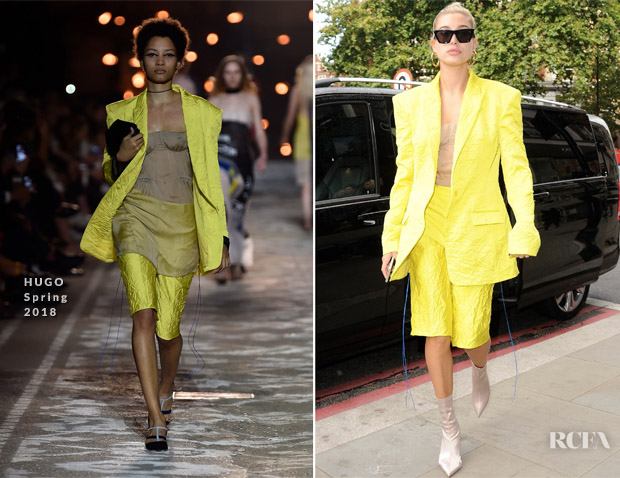 Hailey Baldwin In HUGO - Out In London