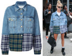 Hailey Baldwin's Natasha Zinko Patchwork Denim Jacket