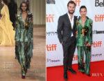 Jamie Dornan In Prada & Amelia Warner In Alberta Ferretti - 'Mary Shelley' Toronto Film Festival Premiere