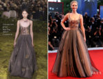 Jennifer Lawrence In Christian Dior Couture - 'Mother!' Venice Film Festival Premiere