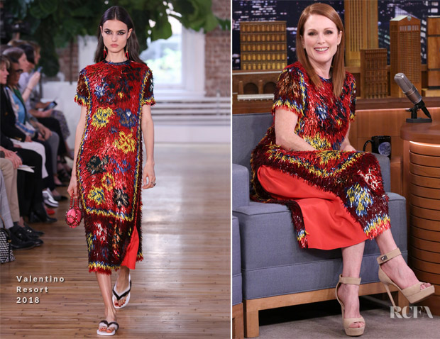 Julianne Moore In Valentino - The Tonight Show Starring Jimmy Fallon