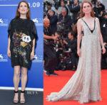 Julianne Moore In Louis Vuitton & Valentino Couture - 'Suburbicon' Venice Film Festival Photocall & Premiere