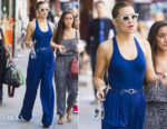 Kate Hudson is feeling blue in Michael Kors Collection