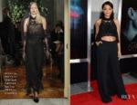 Kiersey Clemons In Alberta Ferretti Limited Edition Couture - 'Flatliners' LA Premiere