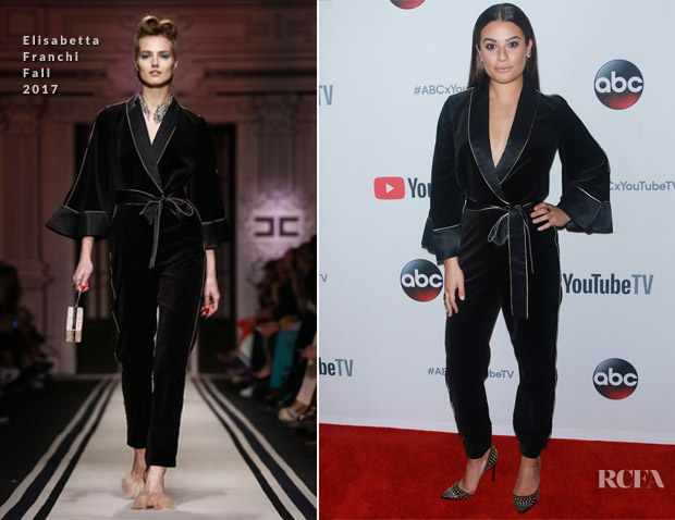 Lea Michele In Elisabetta Franchi - ABC Tuesday Night Block Party Event