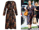 Lily Aldridge's Isabel Marant Olympia Floral-Print Silk Dress