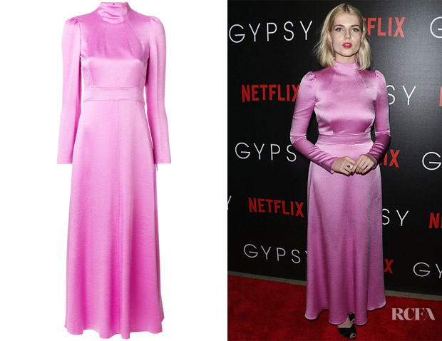 Lucy Boynton's Valentino Long Sleeve Shift Dress