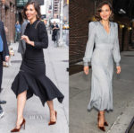 Maggie Gyllenhaal In Monse & Bottega Veneta - The Late Show With Stephen Colbert