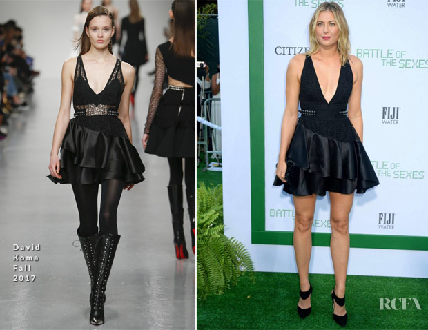 Maria Sharapova In David Koma - 'Battle Of The Sexes' LA Premiere
