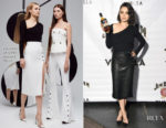 Mila Kunis In Cushnie et Ochs & J Brand - Jim Beam Vanilla Launch Party
