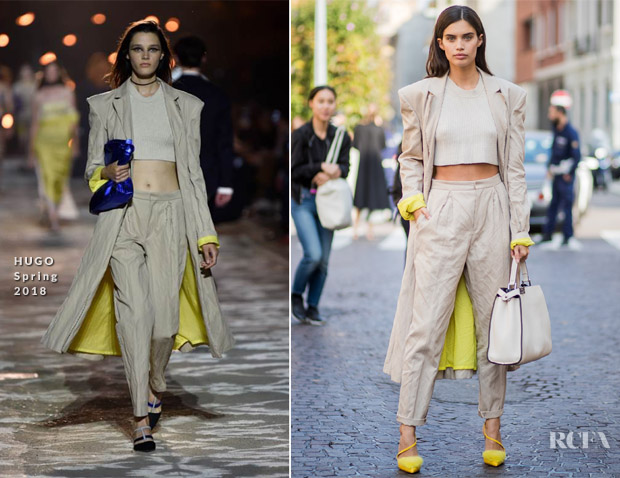 Milan Fashion Week Street Style Sara Sampaio Rocks Hugo