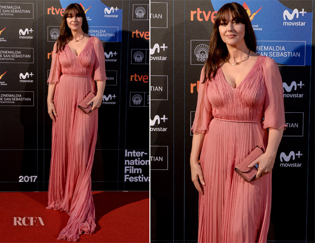 Monica Bellucci In Valentino 65th San Sebastian Film