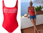 Nicky Hilton's Alberta Ferretti Saturday Swimsuit