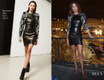 Nieves Alvarez In Barbara Bui - Aquazzura Paris Fashion Week Party