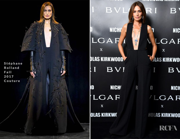 Nieves Alvarez In Stéphane Rolland Couture - Bvlgari Celebrates 'Serpenti Forever'