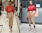 Olivia Culpo in head-to-toe Tod's during NYFW