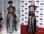 Poppy Delevingne In Reem Acra - GQ Men of The Year Awards