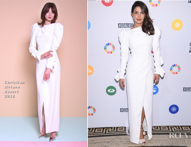 Priyanka Chopra In Christian Siriano - Goalkeepers: The Global Goals Awards 2017