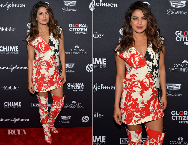 Priyanka Chopra In Fausto Puglisi - Global Citizen Concert
