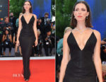 Rebecca Hall In Giorgio Armani - 'Mother!' Venice Film Festival Premiere