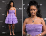 Rihanna In Molly Goddard - 'FENTY Beauty' By Rihanna Harvey Nichols Launch